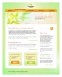 Modello della sorgente o ecologico di Web site di disegno Fotografia Stock