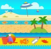 Modello della spiaggia di divertimento Immagini Stock Libere da Diritti