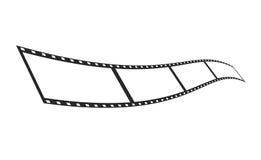 Modello della striscia della pellicola dell'isolato Immagine Stock Libera da Diritti