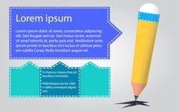 Modello della struttura della casella di testo di arte della matita immagine stock libera da diritti