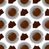 Modello della tazza di caffè Fondo sveglio con la tazza Raccolta del caffè Immagine Stock Libera da Diritti