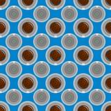 Modello della tazza di caffè Fondo sveglio con la tazza Raccolta del caffè Fotografia Stock Libera da Diritti