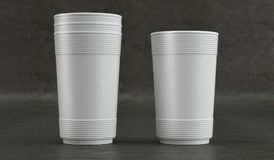 Modello della tazza di carta Front View Fotografie Stock