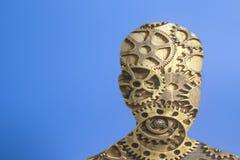 Modello della testa umana con gli ingranaggi immagine stock libera da diritti