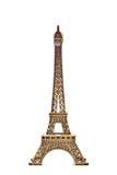 Modello della Torre Eiffel su priorità bassa bianca 2 Immagini Stock
