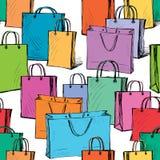Modello delle borse degli acquisti Fotografie Stock