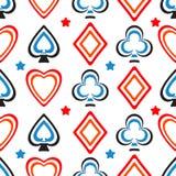 Modello delle carte da gioco Immagine Stock