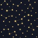 Modello delle costellazioni e delle stelle royalty illustrazione gratis