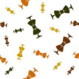 Modello delle cravatte a farfalla colorate delle dimensioni differenti illustrazione di stock