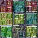 Modello delle finestre colorate del vetro al piombo Fotografie Stock