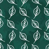 Modello delle foglie del gesso illustrazione vettoriale