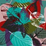 Modello delle foglie di autunno illustrazione di stock