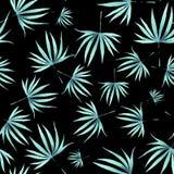 Modello delle foglie verdi dell'acquerello illustrazione vettoriale