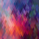 Modello delle forme geometriche, rombico Struttura con flusso di spectr Fotografia Stock