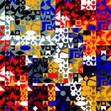 Modello delle forme geometriche variopinte Fotografia Stock Libera da Diritti