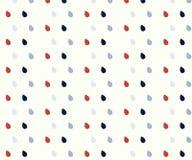 Modello delle gocce di pioggia nei colori luminosi un blu rosso di 3 colori illustrazione di stock