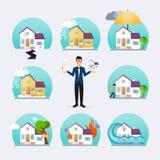 Icone messe dei disastri naturali illustrazione vettoriale for Settore della camera