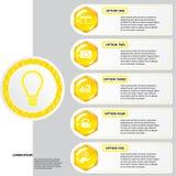 Modello delle insegne di numero di affari di progettazione moderna dell'alveare o disposizione del sito Web Informazione-grafici  Immagine Stock Libera da Diritti