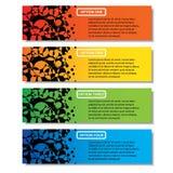 Modello delle insegne di numero di affari di progettazione moderna o disposizione pulito del sito Web Informazione-grafici Vettor fotografie stock libere da diritti