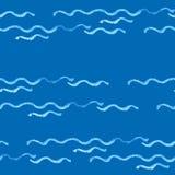 Modello delle linee ondulate Immagine Stock