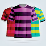 Modello delle magliette di calcio di colore Fotografia Stock