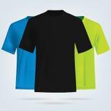 Modello delle magliette di colore Immagini Stock Libere da Diritti
