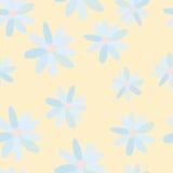 Modello delle margherite blu Immagine Stock