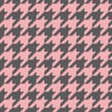 Modello delle mattonelle di vettore di pied de poule o fondo rosa e grigio illustrazione di stock