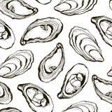 Modello delle ostriche royalty illustrazione gratis