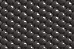 Modello delle palle di metallo fotografia stock