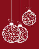 Modello delle palle di Natale royalty illustrazione gratis