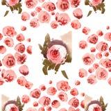 Modello delle rose dell'acquerello Immagine Stock Libera da Diritti
