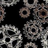Modello delle ruote di ingranaggio Fotografia Stock Libera da Diritti