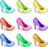Modello delle scarpe delle colline Fotografia Stock