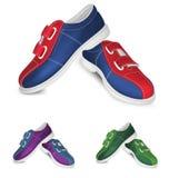 Modello delle scarpe di bowling Fotografie Stock