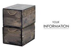 Modello delle scatole di legno Fotografie Stock Libere da Diritti