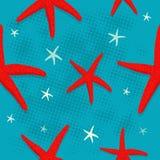 Modello delle stelle marine Immagini Stock