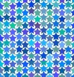 Modello delle stelle multicolori Fotografie Stock Libere da Diritti