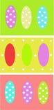Modello delle uova di Pasqua Fotografie Stock Libere da Diritti