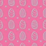 Modello delle uova di Pasqua Fotografie Stock