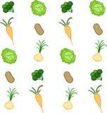 Modello delle verdure su un fondo bianco illustrazione vettoriale