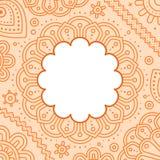 Modello dello spazio in bianco della mandala di giorno di Ugadi Immagine Stock