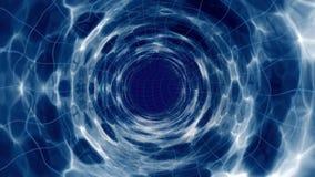 Modello dello spazio di un wormhole Fotografia Stock