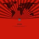 Modello dello sprazzo di sole e mappa di mondo, concetto di affari Fotografia Stock Libera da Diritti