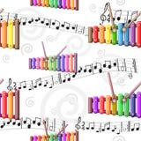 Modello dello xilofono del giocattolo colorato arcobaleno illustrazione di stock
