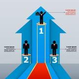Modello di affari con il raggiungimento del successo Fotografia Stock