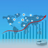 Modello di affari di Digital Immagine Stock Libera da Diritti