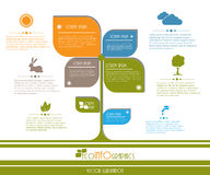 Modello di affari di ecologia di progettazione moderna. Immagine Stock