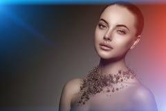 Modello di alta moda Girl Stile P di Vogue di alta moda della donna di bellezza Fotografie Stock