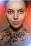 Modello di alta moda Girl Stile P di Vogue di alta moda della donna di bellezza Fotografia Stock Libera da Diritti